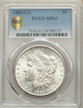1885-CC $1 MS63 PCGS. PCGS Population: (6061/14295). NGC Census: (3220/6364). CDN: $575 Whsle. Bid for problem-free NGC/...