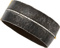 Diamond, Platinum, Gold, Stainless Steel Bracelet, Pat Flynn