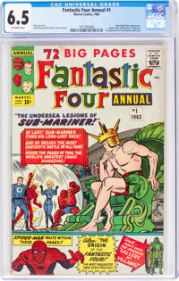 Fantastic Four Annual #1 (Marvel, 1963) CGC FN+ 6.5 Off-white pages