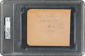 Baseball Collectibles:Others, 1944 Josh Gibson & Satchel Paige Signed Album Page, PSA/DNA Mint 9....