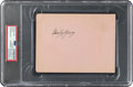 Baseball Collectibles:Others, Circa 1920 Ross Youngs Signed Album Page, PSA/DNA Authentic....