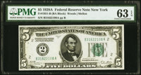 Fr. 1951-B $5 1928A Federal Reserve Note. PMG Choice Uncirculated 63 EPQ
