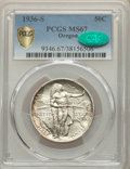 1936-S 50C Oregon MS67 PCGS. CAC. PCGS Population: (179/9). NGC Census: (155/21). CDN: $425 Whsle. Bid for problem-free...