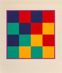 Max Bill (1908-1994) Untitled, late 20th century Screenprint in colors on paper 25-3/4 x 21-3/4 inches (65.4 x 55.2 c