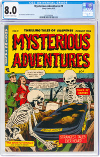 Mysterious Adventures #9 (Story Comics, 1952) CGC VF 8.0 Off-white to white pages
