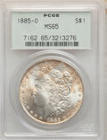 1885-O $1 MS65 PCGS. PCGS Population: (21570/3240). NGC Census: (29859/5306). MS65. Mintage 9,185,000. ...(PCGS# 7162)