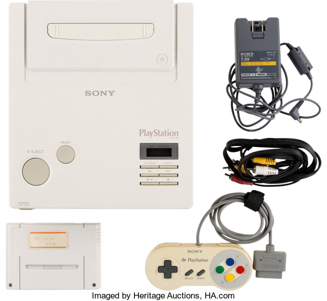 Video Games:Nintendo, Nintendo Play Station Super NES CD-ROM Prototype - Sony and Nintendo c. 1992....