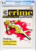 Magazines:Crime, Crime Illustrated #1 (EC, 1955) CGC NM- 9.2 Cream to off-white pages....