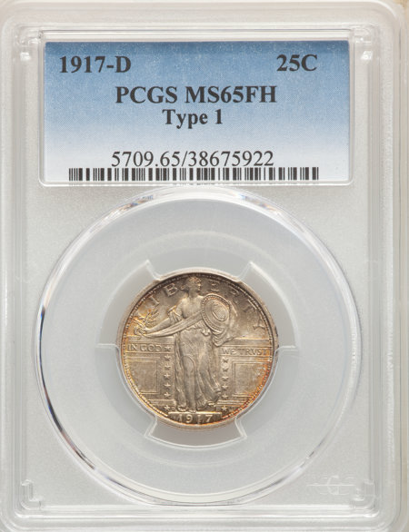 1917-D Type One, FH 65 PCGS