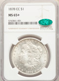 1878-CC $1 MS65+ NGC. CAC. NGC Census: (1235/204 and 19/6+). PCGS Population: (2228/349 and 84/54+). CDN: $1,000 Whsle...