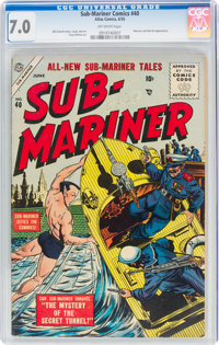 Sub-Mariner Comics #40 (Atlas, 1955) CGC FN/VF 7.0 Off-white pages