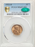 Lincoln Cents: , 1922-D 1C MS65+ Red PCGS. CAC. PCGS Population: (99/14 and 24/3+). NGC Census: (24/2 and 0/0+). CDN: $1,050 Whsle. Bid for ...