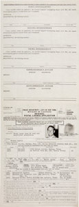 Baseball Collectibles:Others, 1968 Mickey Mantle Signed City of New York Pistol License Application.... (Total: 3 items)