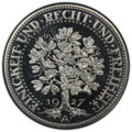 "Germany: Weimar Republic Proof ""Oak Tree"" 5 Mark 1927-A PR66 Cameo PCGS"