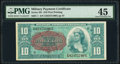Military Payment Certificates:Series 591, Series 591 $10 First Printing PMG Choice Extremely Fine 45.. ...