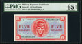 Military Payment Certificates:Series 611, Series 611 $5 First Printing PMG Gem Uncirculated 65 EPQ.. ...