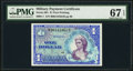 Military Payment Certificates:Series 661, Series 661 $1 First Printing PMG Superb Gem Unc 67 EPQ.. ...