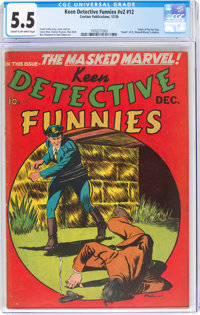 Keen Detective Funnies V2#12 (Centaur, 1939) CGC FN- 5.5 Cream to off-white pages