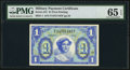 Military Payment Certificates:Series 541, Series 541 $1 First Printing PMG Gem Uncirculated 65 EPQ.. ...