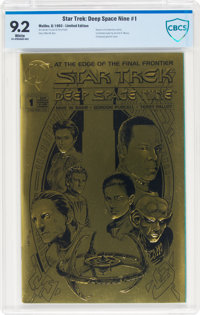 Star Trek: Deep Space Nine #1 Limited Gold Edition. (Malibu, 1993) CGC NM- 9.2 White pages