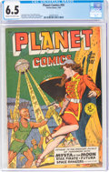 Golden Age (1938-1955):Science Fiction, Planet Comics #59 (Fiction House, 1949) CGC FN+ 6.5 Cream to off-white pages....