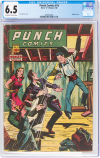 Punch Comics #18 (Chesler, 1946) CGC FN+ 6.5 Off-white to white pages
