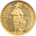 German States:Hamburg, German States: Hamburg. Free City gold Ducat 1864 MS64 NGC,...