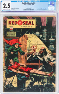 Red Seal Comics #14 (Chesler, 1945) CGC GD+ 2.5 Cream to off-white pages