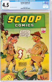Scoop Comics #1 (Chesler, 1941) CGC VG+ 4.5 Off-white pages