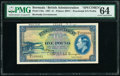 World Currency, Bermuda Bermuda Government 1 Pound 12.5.1937 Pick 11bs Specimen PMG Choice Uncirculated 64.. ...