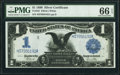 Large Size:Silver Certificates, Fr. 235 $1 1899 Silver Certificate PMG Gem Uncirculated 66 EPQ.. ...