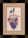 Works on Paper, Erté (Romain de Tirtoff) (Russian/French, 1892-1990). Scherezade. Gouache and pencil on paper. 12-1/...