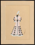 Works on Paper, Erté (Romain de Tirtoff) (Russian/French, 1892-1990). Grand-Mère. Gouache and ink on paper. 13-3/4 x...