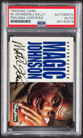 "Autographs:Sports Cards, Dual-Signed 1992 Skybox ""Team Players"" Jim Kelly & Magic Johnson Card PSA/DNA Auto Authentic. ..."