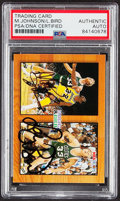 Autographs:Sports Cards, Dual-Signed 1994 Skybox NBA Hoops Magic Johnson & Larry Bird #MB1 PSA/DNA Authentic. ...
