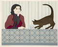 Works on Paper, Will Barnet (American, 1911-2012). Meditation and Minou, 1980. Lithograph in colors on paper. 22 x 28 inches (55.9 x 71....