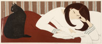 Will Barnet (American, 1911-2012) The Reader Screenprint in colors on paper 15 x 35-1/2 inches (3