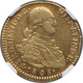 Colombia, Colombia: Ferdinand VII gold 2 Escudos 1808 NR-JF VF30 NGC,...