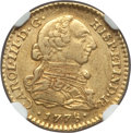Colombia: Charles III gold Escudo 1778 NR-JJ XF45 NGC