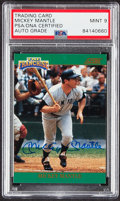 Autographs:Sports Cards, Signed 1991 Score Mickey Mantle Autograph Card #2 PSA/DNA Mint 9 - Serial #'d 1,456/2,000. ...