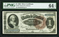 Fr. 219 $1 1886 Silver Certificate PMG Choice Uncirculated 64 EPQ