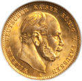 German States: Prussia. Wilhelm I gold 10 Mark 1873-A MS67 NGC