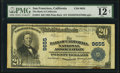 National Bank Notes:California, San Francisco, CA - $20 1902 Plain Back Fr. 654 The Bank of California National Assoc Ch. # 9655 PMG Fine 12 Net.. ...