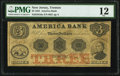 Obsoletes By State:New Jersey, Trenton, NJ- America Bank $3 May 1, 1853 G6a PMG Fine 12.. ...