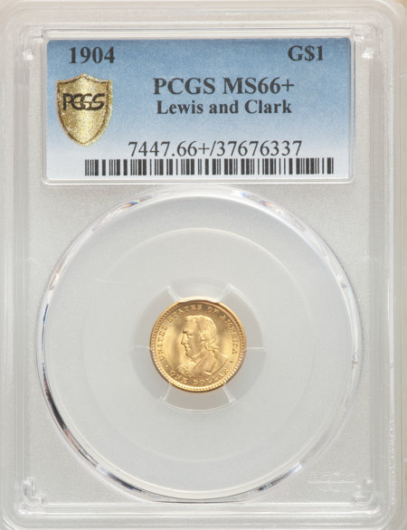 1904 G$1 Lewis and Clark, MS PCGS Secure PCGS Plus 66 PCGS