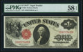 Large Size:Legal Tender Notes, Fr. 36 $1 1917 Legal Tender PMG Choice About Unc 58 EPQ.. ...