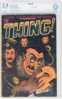 The Thing! #7 (Charlton, 1953) CBCS GD+ 2.5 Off-white to white pages