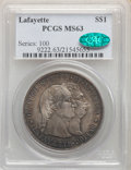 1900 $1 Lafayette Dollar MS63 PCGS. CAC. PCGS Population: (813/1417). NGC Census: (499/1003). CDN: $900 Whsle. Bid for N...