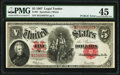 "Large Size:Legal Tender Notes, Fr. 91 $5 1907 ""PCBLIC"" Error Legal Tender PMG Choice Extremely Fine 45.. ..."