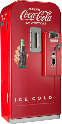 A Vendo Company Thirty-Nine Bottle Coca-Cola Vending Machine, Kansas City, Missouri, 1952 Marks: (manufacturer's b